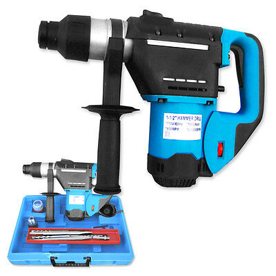 """1 1/2"""" Rotary Hammer Drill Bits Punch SDS Case Electric"""