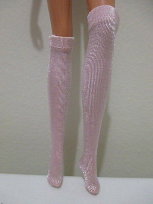 Barbie Doll Clothing pink with sheen knee high socks silkstone