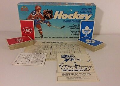 1985 Grand Toys NHL Card Game - Toronto Maple Leafs Montreal Canadiens VINTAGE