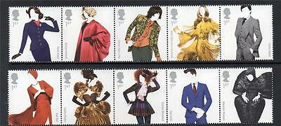 Great British Fashion Clothing Set 2 Joined Strips Mnh 2012
