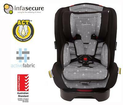 Br New Infasecure Luxi Treo Convertible Kid Infant Baby Car Seat 0-8 years Grey
