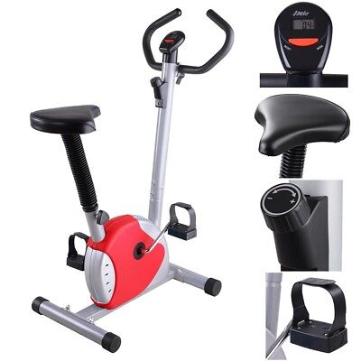 Exercise Bike Fintess Cycling Machine Cardio Aerobic Equipment Workout Home Red