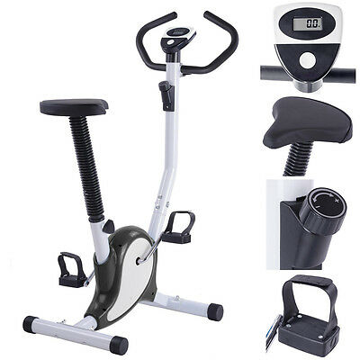 Stationary Exercise Bike Trainer Fintess Cycling Machine Cardio Aerobic Workout