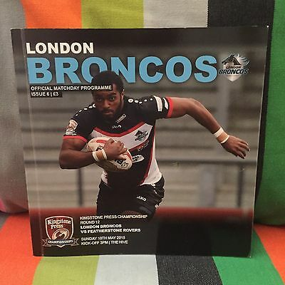LONDON BRONCOS v FEATHERSTONE ROVERS 2015