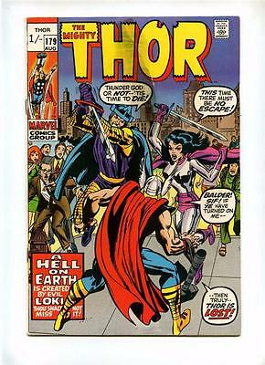 Thor #179 - Marvel 1970 - GD/VG - Last Jack Kirby Issue - UK Pence Variant