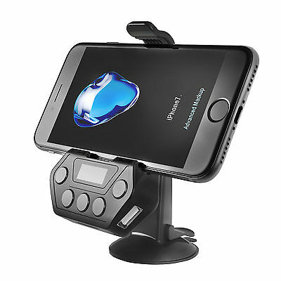 Bluetooth Car FM Transmitter Wireless Radio Adapter Holder For iPhone 7 Samsung