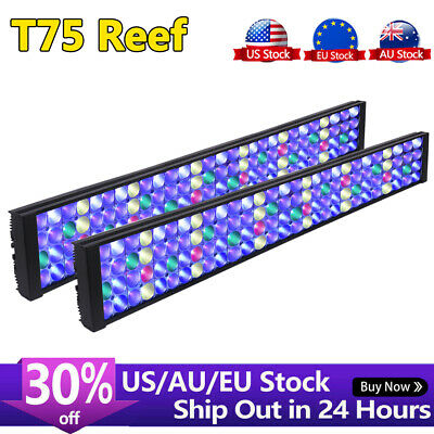 "2PCS DSunY Marine LED Aquarium Light 72"" Reef Coral SPS LPS Fish Tank Lighting"