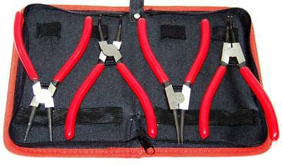 """4 pcs Snap Ring Plier Circlip Plier Heavy Duty 7"""" External Internal with Pouch"""