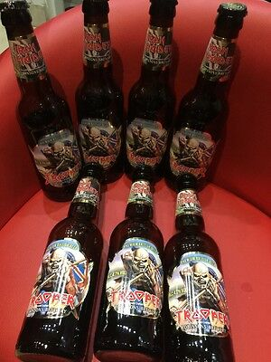 Iron Maiden 7 Trooper Empty Beer Bottles With Bottle Tops Robinsons Brewery