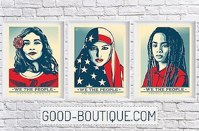 Shepard Fairey・We The People・5x Set・Greater Than Fear Defend Protect・Not Signed