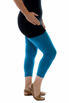 New Womens Plus Size Leggings Ladies Cropped Trousers Elasticated Capri Nouvelle