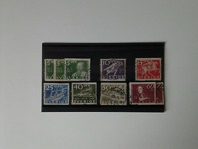 Sweden - Small Selection of Used Stamps From 1936 - A. Oxenstierna (Poet).