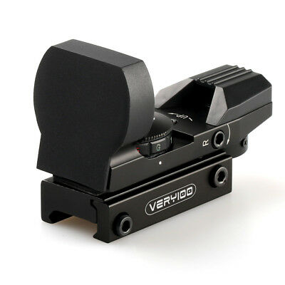 Tactical Holographic 4 Reticle Red/Green Dot Reflex Sight Scope w/  VERY100 Case