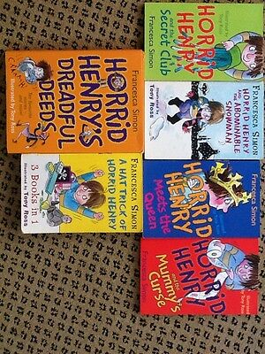 6 Horrid Henry Books 17 Stories Francesca Simon