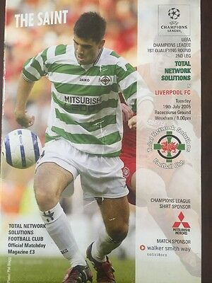 TNS V LIVERPOOL CHAMPS LEAGUE 19th July 2005 Signed Programme By Steven Gerard