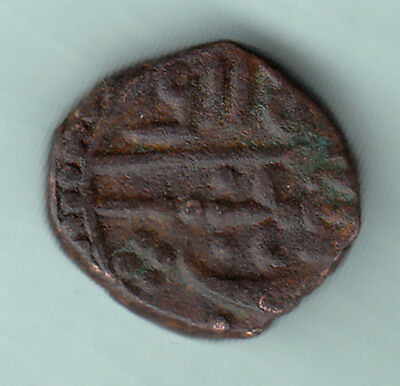 Gwalior Indian State Extremely RARE Mughal Issue Copper Coin D79