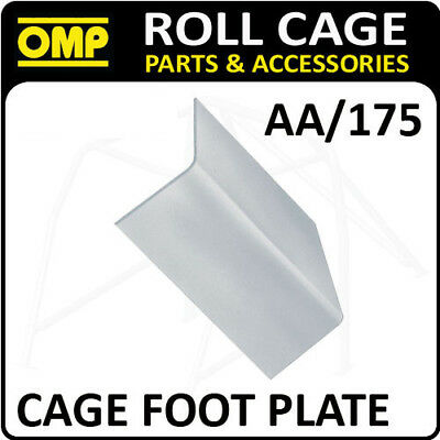 "Aa/175 Omp Roll Cage Fixing ""l"" Shape Foot Plate (1) Fia Approved Race/rally"