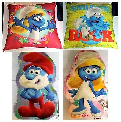 New Smurfs The Lost Village Cushions Papa Smurfette & Hefty Indoor Great Quality