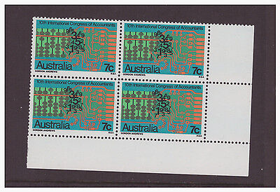 Australia 1972 Congress of Accountants SG522 block of 4 mint  stamps