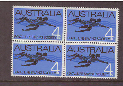Australia 1966 Anniv of the Royal Saving Society  SG406 block of 4 mint stamps