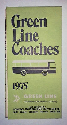 Green Line Coaches Map 1975