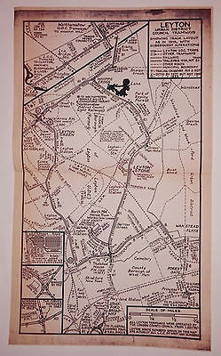 Leyton Tramways track plan 1919 with alterations