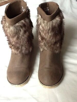 girls F&F brown boots size 13