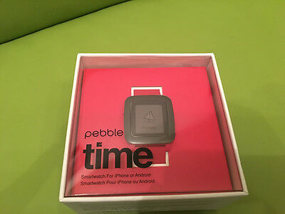 Pebble Time Red smart watch android iOS