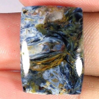 16.40Cts. 100% NATURAL CHATOYANT PIETERSITE CUSHION CABOCHON AFRICAN GEMSTONE