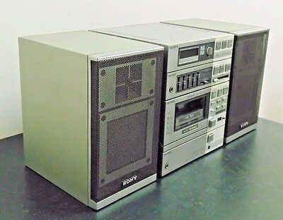 Vintage Retro Sony FH-7 Portable Compact High Density Component System Boombox