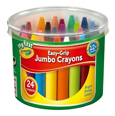 Crayola Easy-Grip Jumbo Crayons Pack of 24 My First Crayola Bright Strong Colors