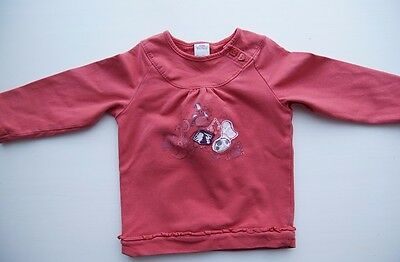 Baby warmes Langarm Shirt T-Shirt S. OLIVER rot Gr 80 86 100% Baumwolle
