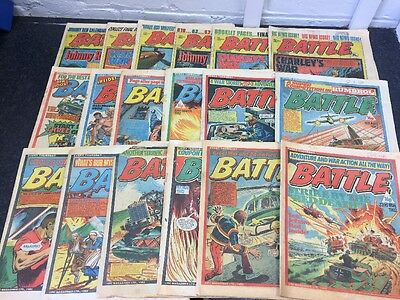 Job Lot - 25 Issues Of Battle Action Comic From 1982 - Good-Very Good