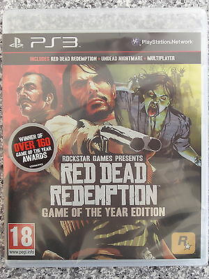 Red Dead Redemption - Game of The Year Edition For PAL PS3 (New & Sealed)