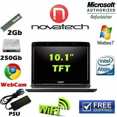Novatech BX2094 Notebook Computer 250GB 2GB Wifi Webcam Windows7 With Charger