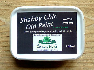 SHABBY CHIC Chalk color Furniture Farbe Vintage Craft paint white cream