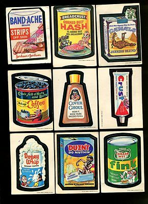 1973 Wacky Packages Stickers Series 1 Complete Set Of 30 *53543
