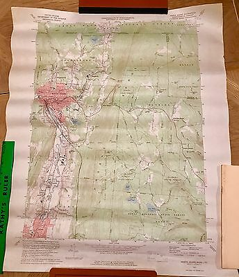 N Adams Massachusetts 1960 Vintage USGS Original Topo Chart Map