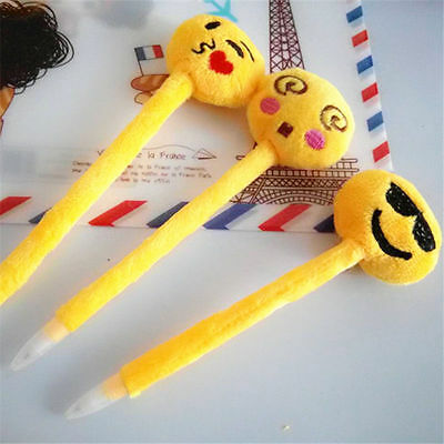 Emoji Head Funny Stationery Pen x 5