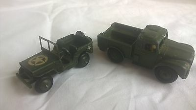 Dinky jeep and 1 ton Army Truck