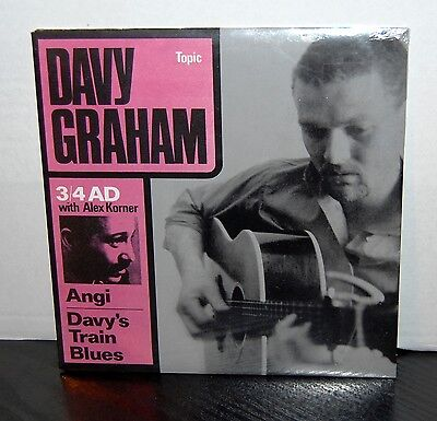 "DAVY GRAHAM with ALEXIS KORNER.  "" 3/4 A.D. ""  TOPIC 7"" EP. MINT , SEALED."