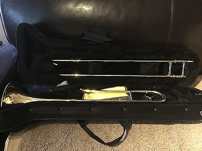 Used Elkhart TB100 Bb trombone In Very Good. Condition