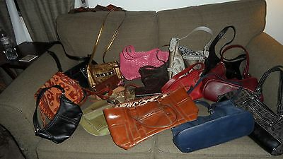 17 pc Designer Bag Lot Dooney Bourke Tignanello Fossil Gucci Coach Emilie M