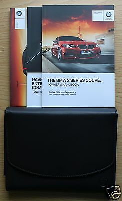 Bmw 2 Series Coupe F22 Handbook Owners Manual Wallet 2013-2015 Pack #1218