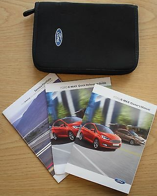 Genuine Ford C-Max Handbook Owners Manual Wallet + Service Book 2015-2016 Sync