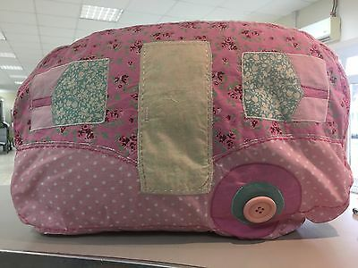 Vintage Caravan Shaped Cushion