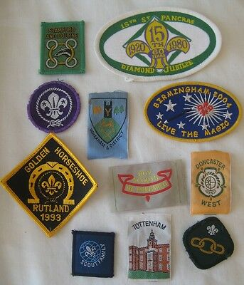 Collection x11 vintage mixed BOY SCOUTS cloth patch sewn BADGES
