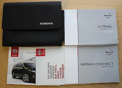 Nissan X-Trail Handbook + Connect Owners Manual & Wallet 2014-2015 Pack 10596