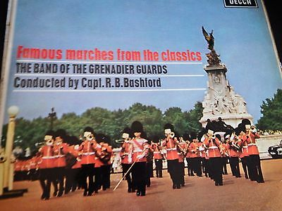 BAND OF THE GRENADIER GUARDS - Famous Marches From The Classics - Ex LP Record