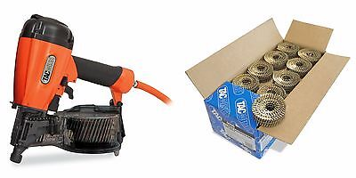 Tacwise FCN57V Air Coil Nailer + 40mm Galvanised Ring Coil Nails (14,400)